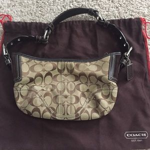 Coach signature small hobo bag